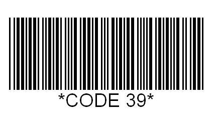Représentation d'un code 39