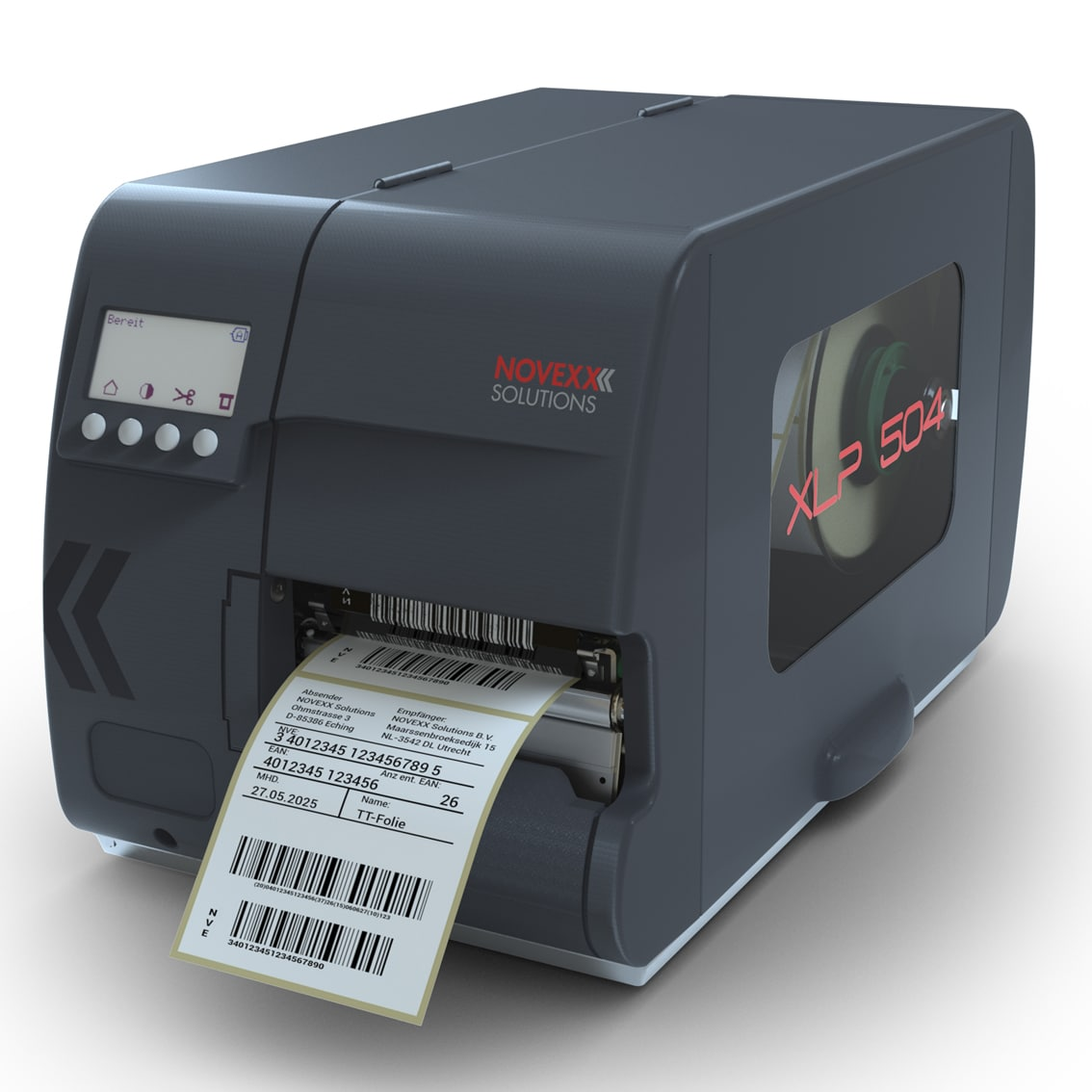 Imprimante d'étiquettes industrielle Novexx XLP 504-ALPHAPRINT