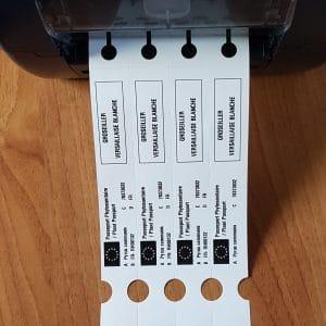 Etiquette boucle imprimée avec Passeport Phytosanitaire